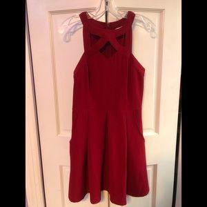 criss cross halter top dress